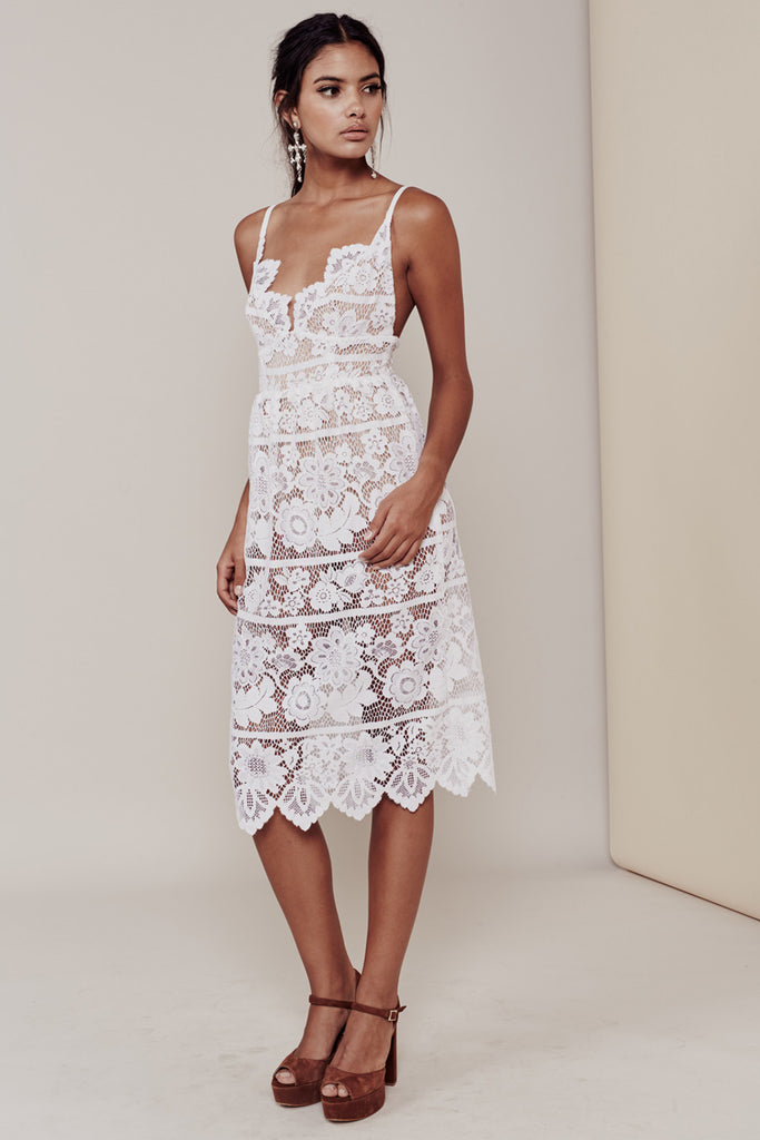a64d4a4549 Gianna Dress in White by For Love and Lemons - RENTAL