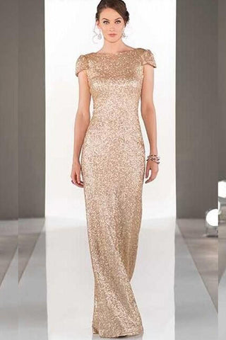 Vita Champagne Sequin Gown by Sorella Vita - RENTAL