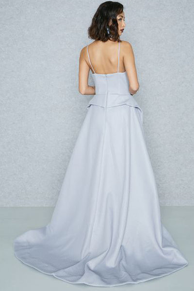 Harper Asymmetrical Mesh Gown by Bariano - RENTAL