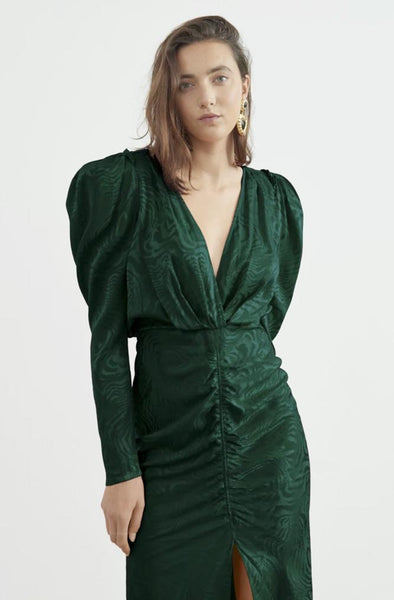 Ronny Kobo Astrid Dress Green