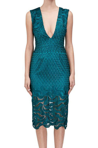 Leaf Lace Dress by Nicholas - RENTAL