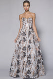 Gypsy Metallic Print Ballgown by Bariano in Canada