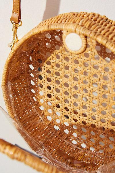 Heather Wicker Top Handle Bag by Serpui - RENTAL