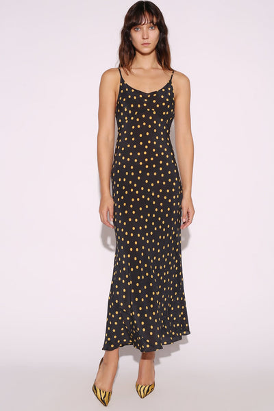 Iggy Dress in Yellow polka Dot by Realisation Par