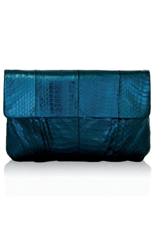 Blue snakeskin clutch rental Canada