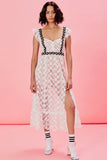 Isabel Embroidered Midi Dress For Love and Lemons