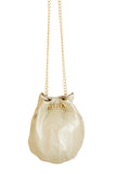 Bucket Bag in Pearl by Whiting and Davis - RENTAL