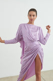 Ronny Kobo Lavender Palm print Jade Dress
