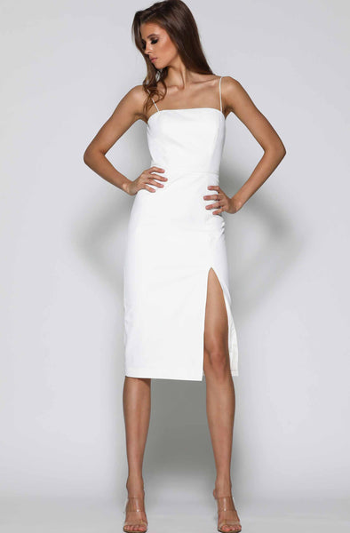 Kara Dress in White by Elle Zeitoune - RENTAL