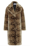 Katie Faux Fur Snake Print Coat by JAKKE - RENTAL