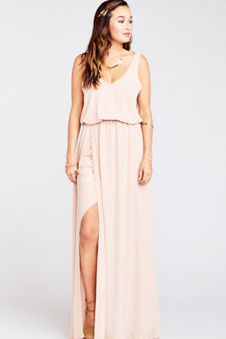 Mumu Bridesmaids dress dusty blush crisp