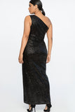 Nighthawk Sequin One Shoulder Gown by Jason Wu X Eloquii - RENTAL