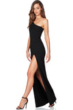 Black one shoulder gown rental Canada