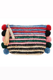 Raffia Tassle Clutch Bag in Rainbow by Loeffler Randall - RENTAL