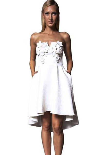 Lula Dress in White by Narces - RENTAL