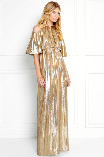 Marlene Gold Lamé Gown by Rachel Zoe - RENTAL