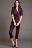 Sequin Catsuit in Port by Amanda Uprichard