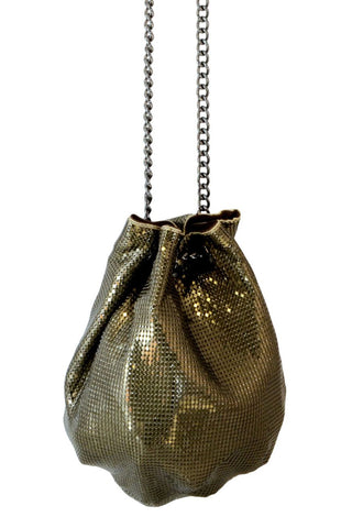 Bucket Bag in Antique Gold by Whiting and Davis - RENTAL