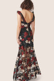 Low back floral applique dress rental Canada