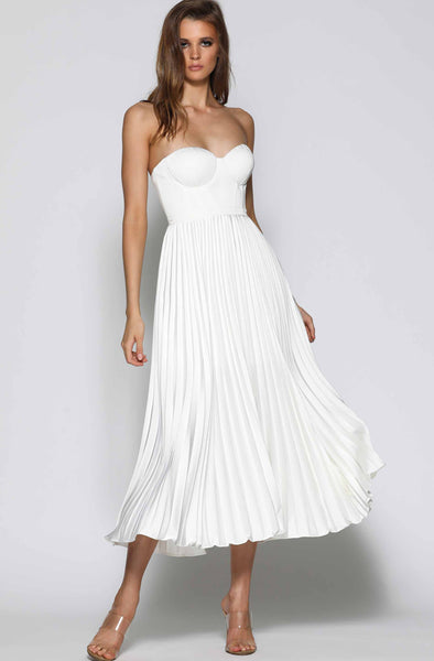 Milan Dress in White by Elle Zeitoune - RENTAL
