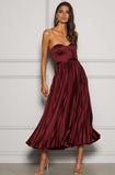 Milan Dress Wine Elle Zeitoune