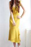 yellow midi dress fitzroy rentals toronto