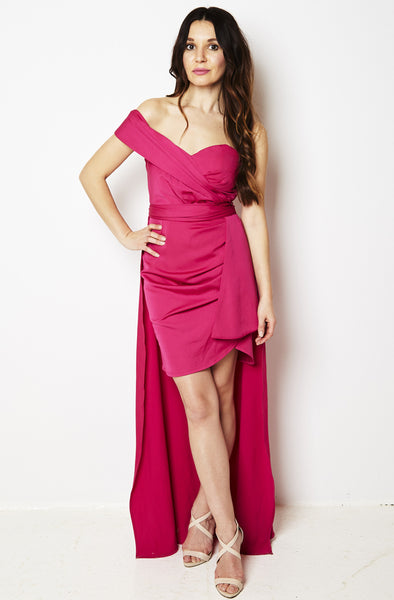Mischa Removable Skirt Pink Party Dress by Bariano - RENTAL