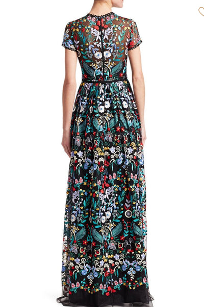 Floral Embroidered Monique L'hullier Gown
