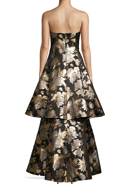 The Monaco Strapless Jacquard Gown by Aidan Mattox - RENTAL