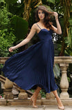 Milan Dress in Navy by Elle Zeitoune - RENTAL