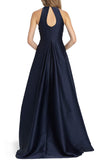 Noelle Navy Gown by ML Monique Lhuillier - RENTAL