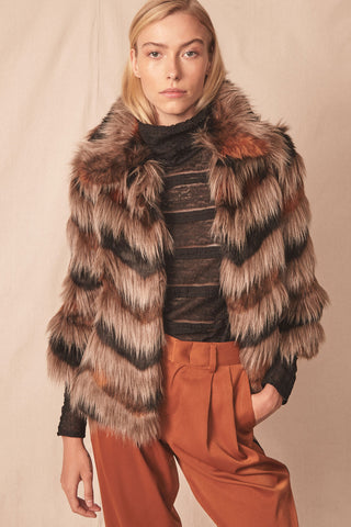 Nevada Faux Fur Coat by Allen Schwartz