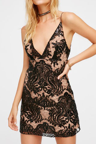 Night Shimmers Mini Dress by Free People - RENTAL