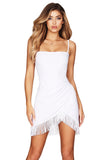 Nookie Fever Fringe Mini Dress in White