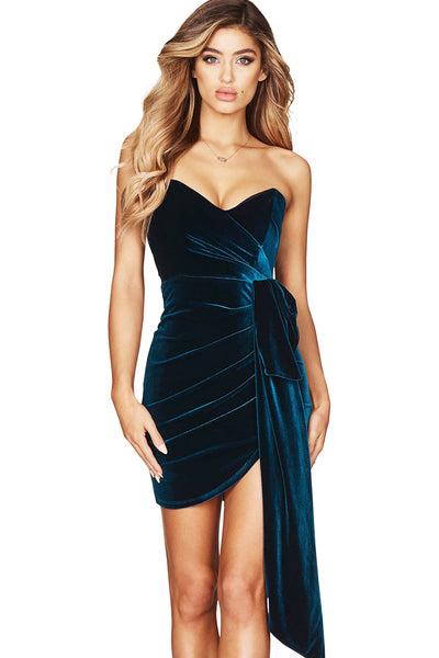Nookie Velvet Teal Dress