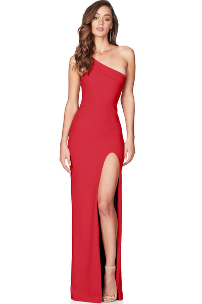 Mila One Shoulder Gown by Nookie