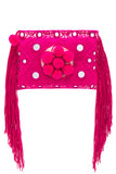 Paraga Fringe Clutch in Pink by Misa Los Angeles - RENTAL