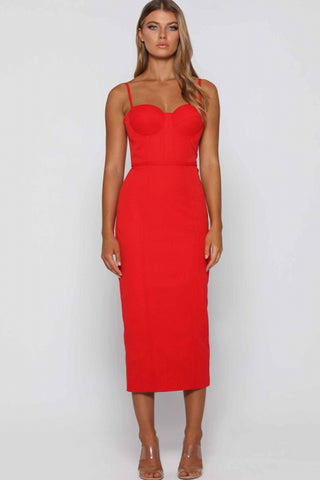 Penny Dress in Red by Elle Zeitoune