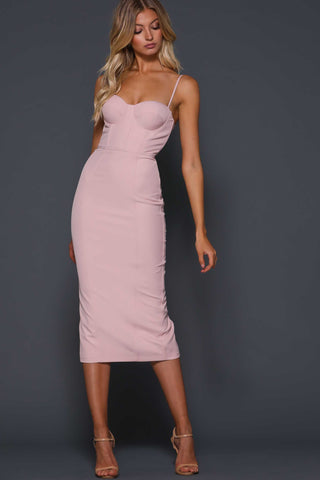 Penny dress in blush by Elle Zeitoune