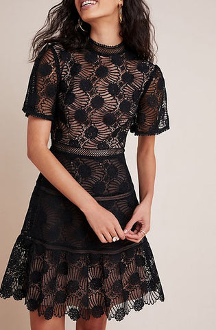 Peyton Lace Mini Dress by ML Monique Lhuillier - RENTAL