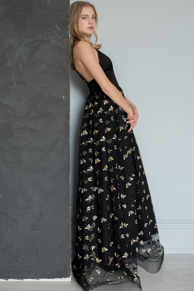 Bee Embroidered formal gown by Jordan de Ruiter