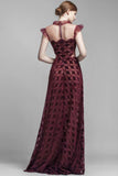 Burgundy gown by Beside Couture from The Fitzroy
