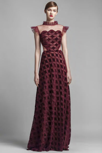 Burgundy floor length gown for rent Toronto - The Fitzroy