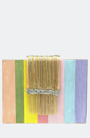 rainbow dreamy clutch simitri designs