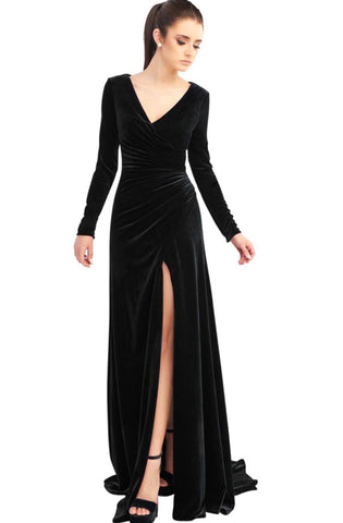 Ravenna Velvet Gown by Mac Duggal - RENTAL