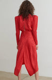 Ronny Kobo Astrid Dress Red