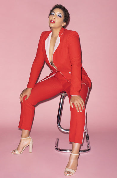 Smoking Suit in Red and Pink by Hebe Studio - RENTAL