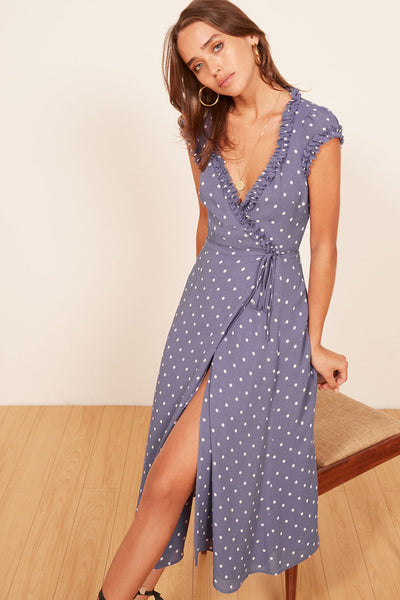 Vivian at The Races Wrap Dress by Reformation - RENTAL