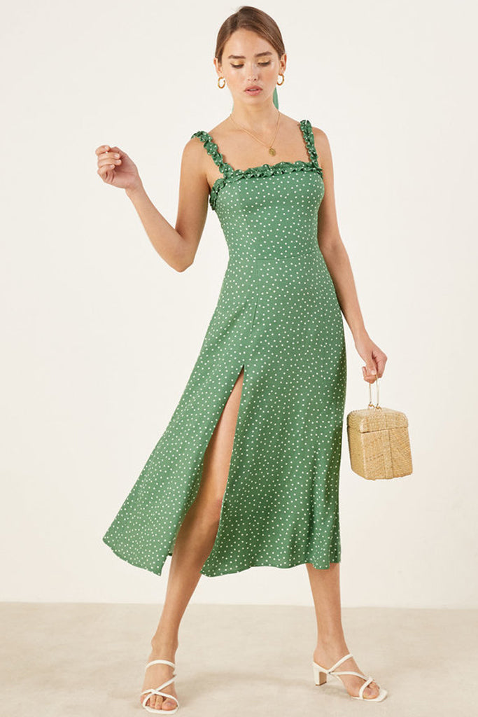 6b5fab9a9445d Arielle Dress in Peppermint by Reformation - RENTAL | The Fitzroy