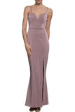 Renee High Slit Gown by Bariano - RENTAL